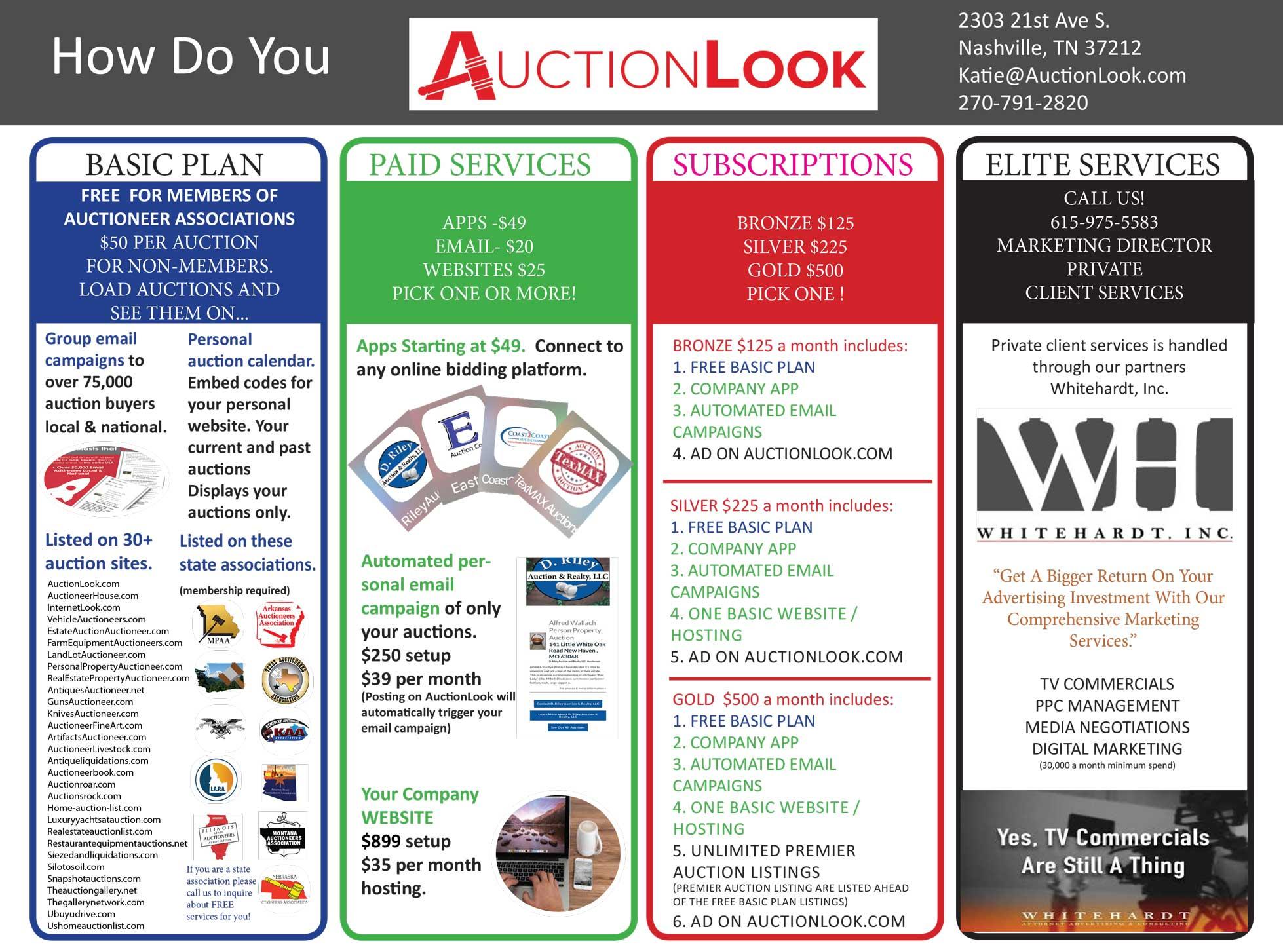 AuctionLook Services Sheet